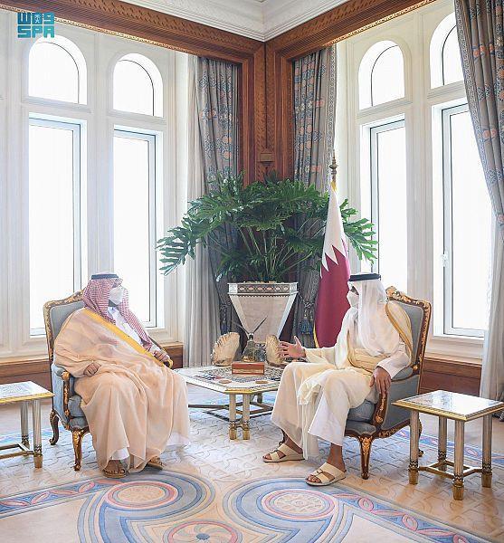 Sheikh Tamim bin Hamad receives Prince Turki bin Mohammed bin Fahd