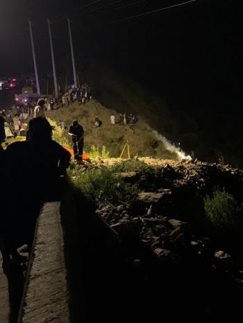 وفـاة وإصابة شخصين جراء سقوط مركبة من منحدر جبلي بجازان