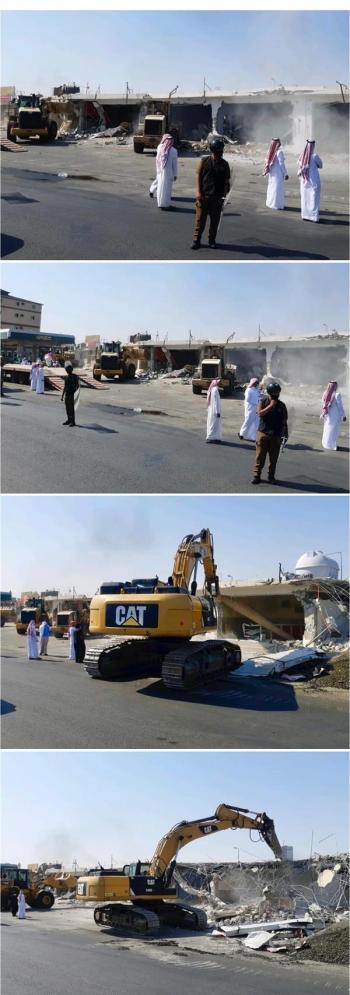 أمانة جدة وبمشاركة الجهات الأمنية والمختصة تزيل تعدي على أرض حكومية بطريق مكة القديم
