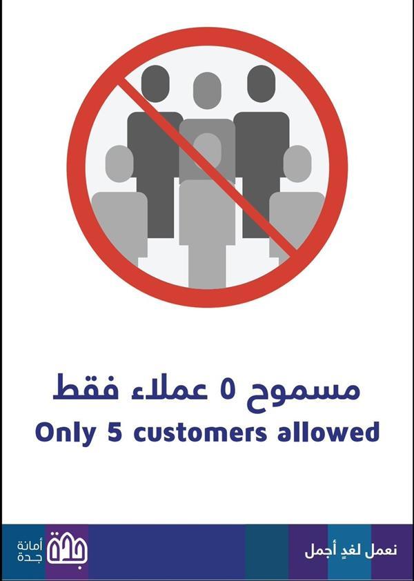 """""""أمانة جدة"""" تحدد لكل بقالة ومركز تسوق عدد الأشخاص المسموح تواجدهم داخله في وقت واحد"""