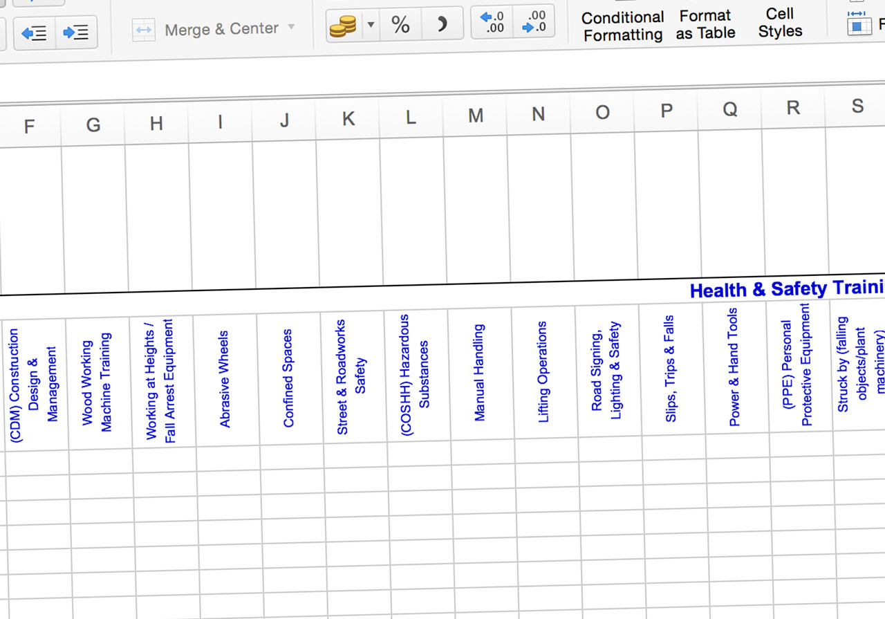 How To Identify Your Training Needs With A Simple Spreadsheet