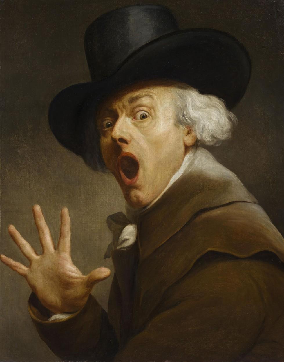 Joseph Decreux : joseph, decreux, Self-portrait,, Entitled, Surprise, Terreur, Joseph, Ducreux, DailyArt, Mobile