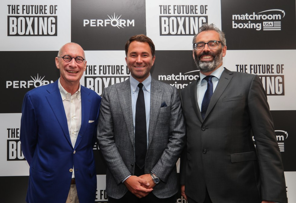 Image result for eddie hearn dazn deal