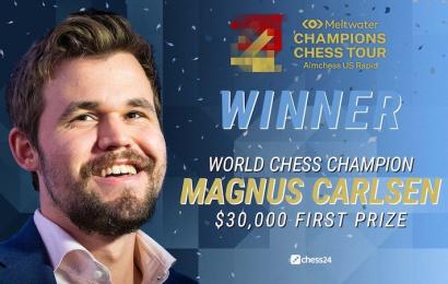 magnus carlsen winner of aimchess teaser