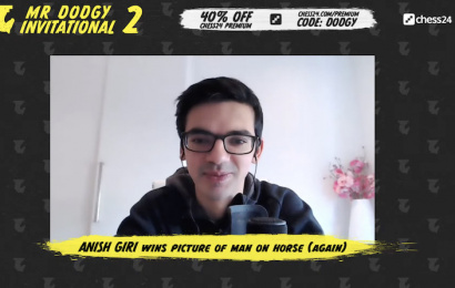 anish giri wins picture of man on horse again teaser