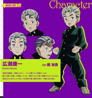 JoJos-Bizarre-Adventure-Part-IV-Diamond-Is-Unbreakable-anime-character-design-Koichi-Hirose