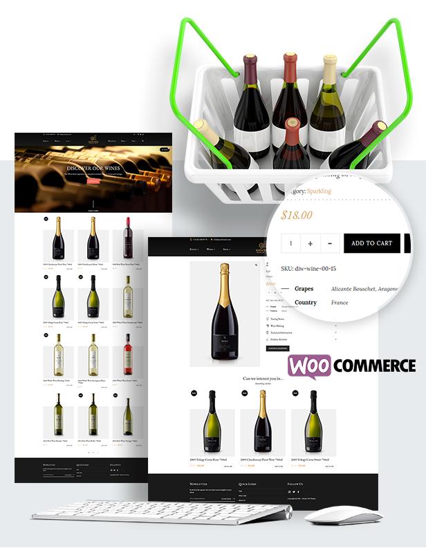 Diwine - Winery & Wine Shop, Vineyard WordPress Theme - 12