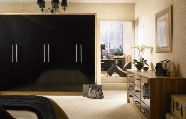 Premier Duleek wardrobe doors in High Gloss Black by HOMESTYLE