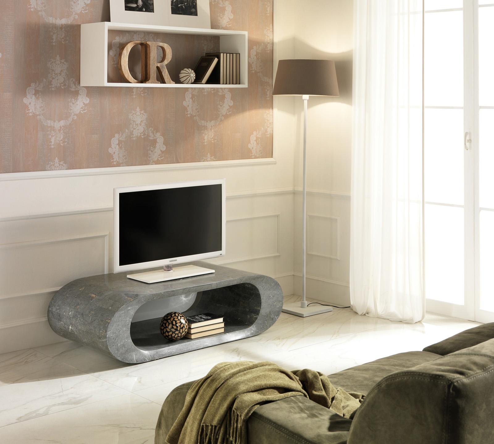 Porta Tv in pietra grigia  Duzzle