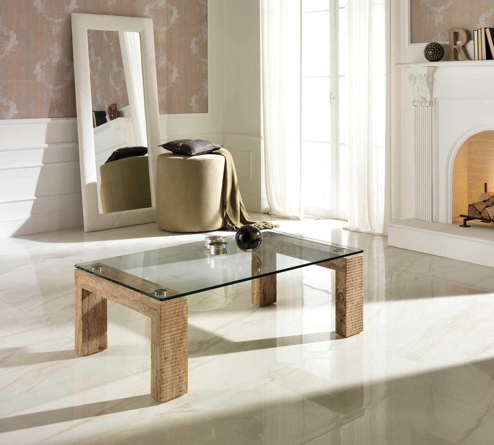 Tavolino da salotto Millerighe wood stone  Duzzle