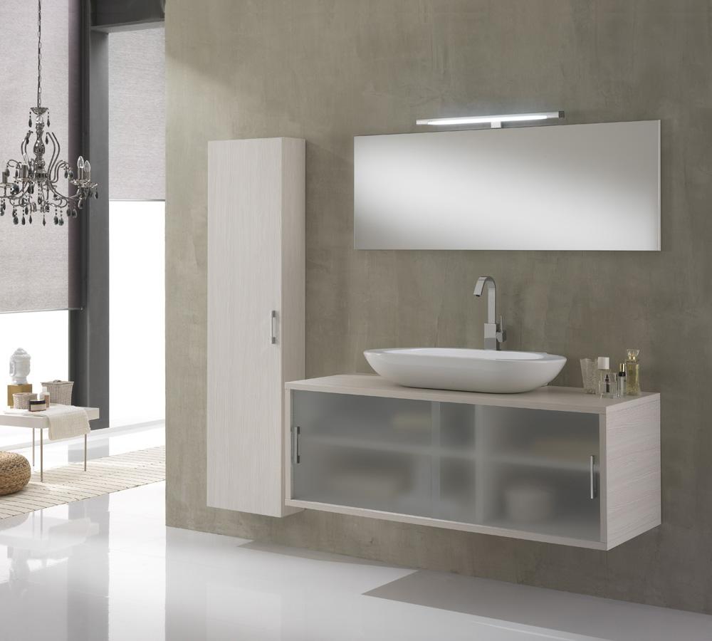 Arredo Bagno Giava 06 Pino Bianco  cm 130  Duzzle