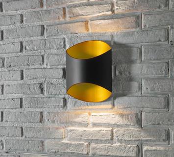 Lampada da parete Section nera  Duzzle