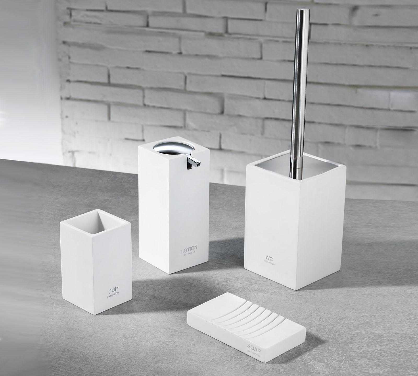 Set accessori bagno TFT cod 4357AWHITE  Duzzle