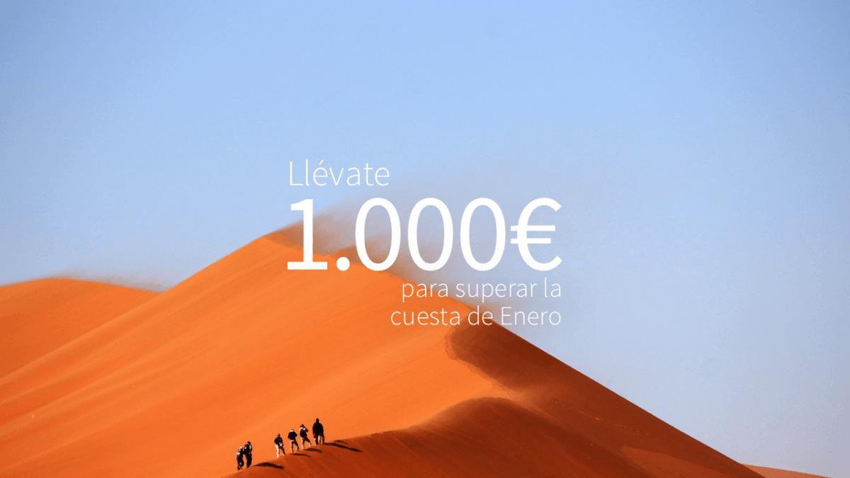 Gana 1.000€ con Fintonic para que la cuesta de enero sea hacia abajo