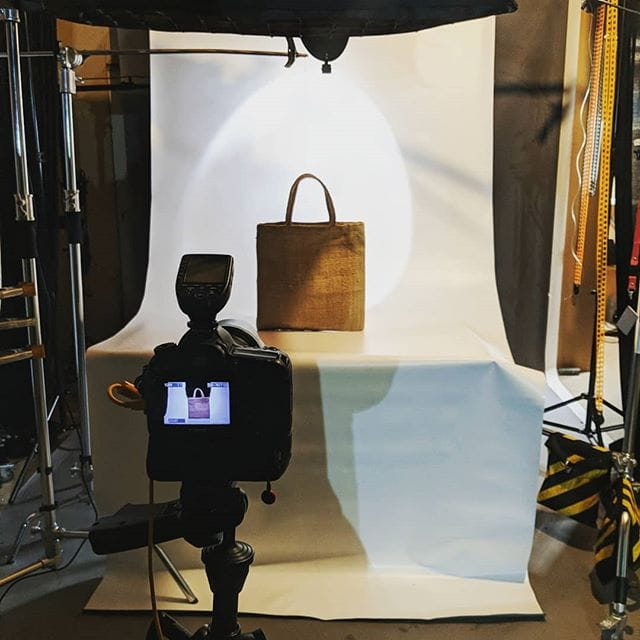 In the studio thls morning busy with product photography.