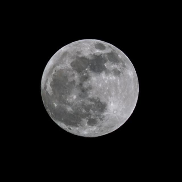 The Super moon last night