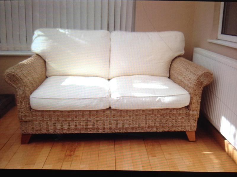 sofas laura ashley furniture silver grey uk rattan two seater sofa and armchair in bognor regis expired friday ad