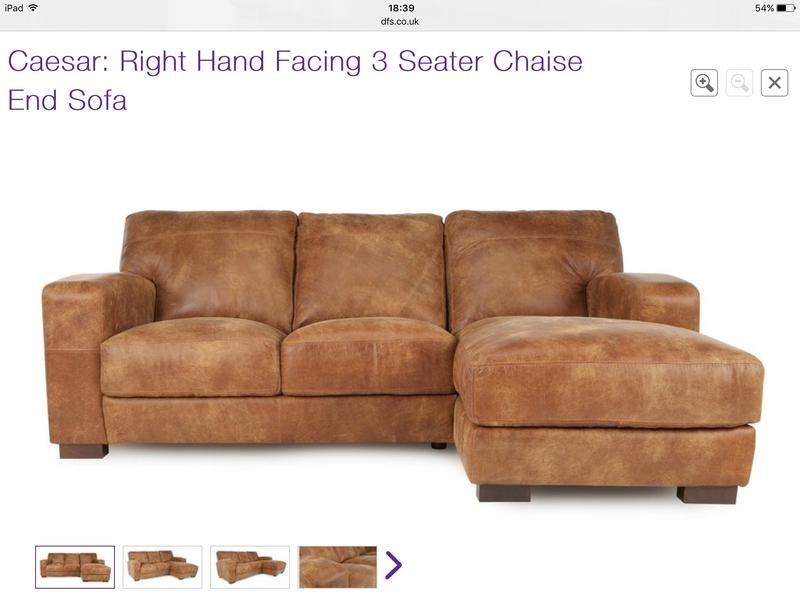 leather sofas dfs scs storm sofa brown 3 piece set caesar range from in peterborough expired friday ad