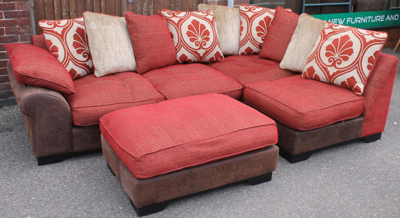 corner sofa dfs martinez bed 3 fold mattress red stool in haywards heath expired friday ad