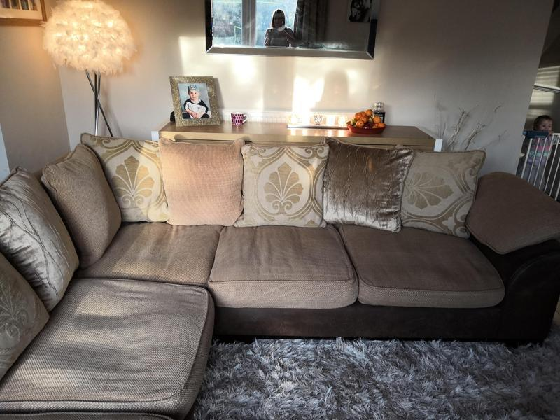 corner sofa dfs martinez bed singapore courts beige golds delivery available in eastbourne
