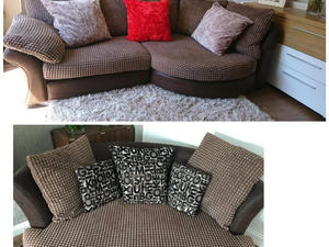 black 3 seater sofa and cuddle chair wingback dfs jumbo cord delivery available in eastbourne embrace large corner set great