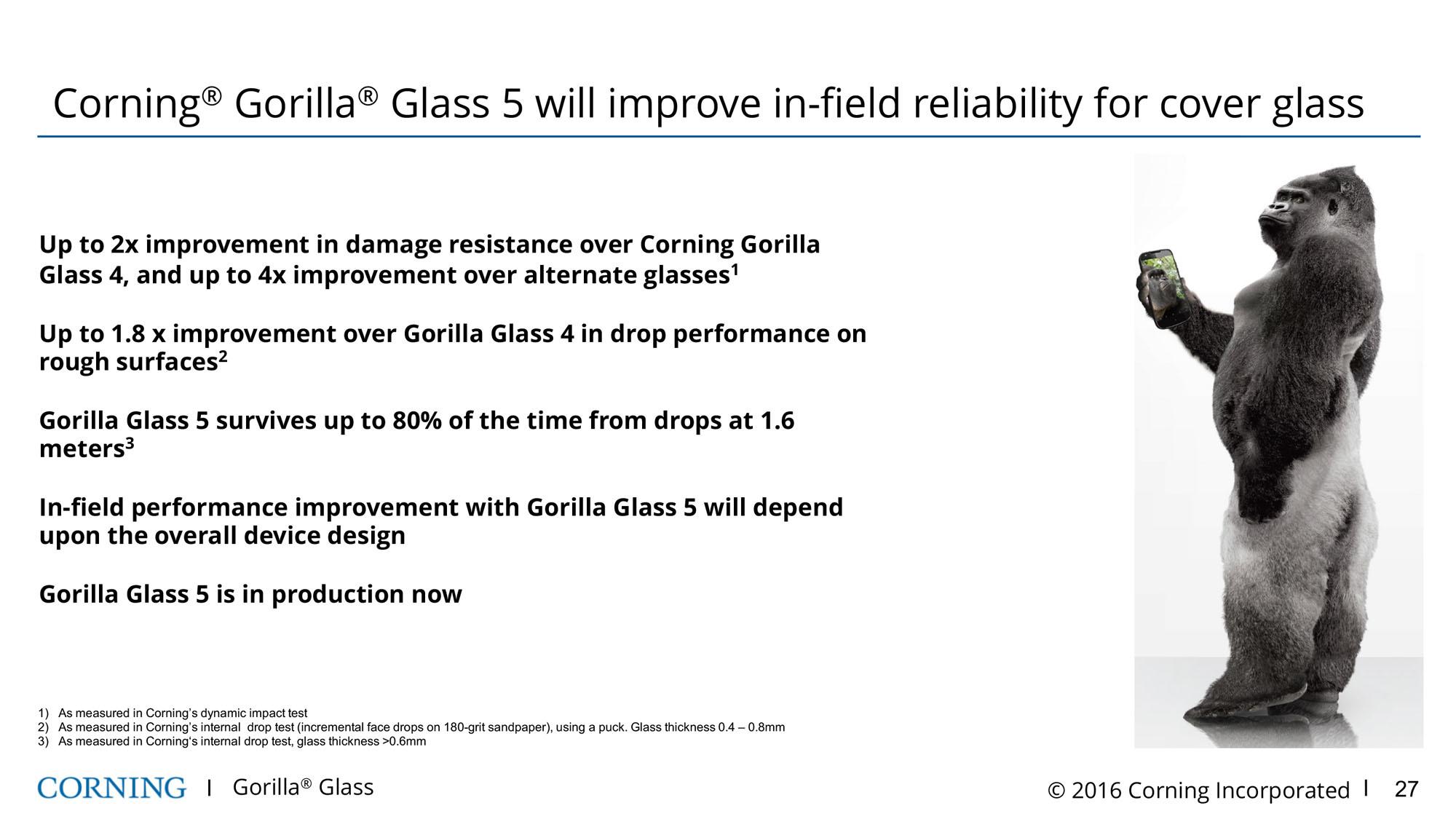 Corning Gorilla Glass 5 - jeszcze lepsze szkło dla smartfonów