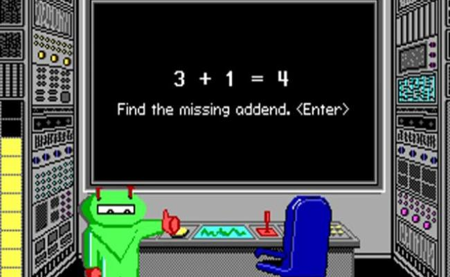 Math Blaster Plus Gameplay Pc Game 1987 - Cute766