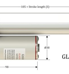 gla750 actuator dimensions installation length  [ 1700 x 530 Pixel ]