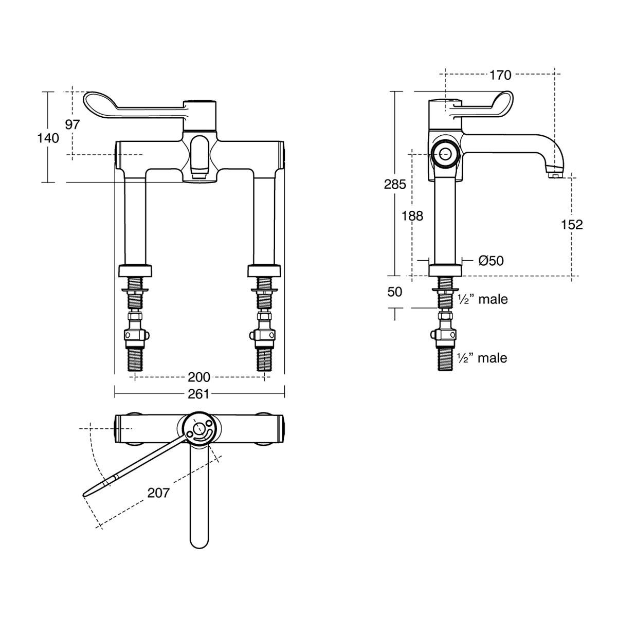 Markwik 21 Thermostatic Basin Mixer Bioguard (SA84110