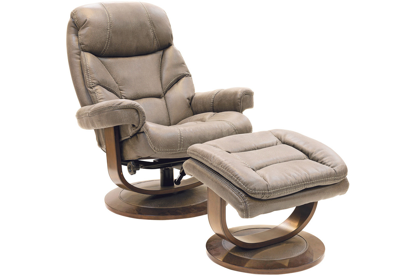 swivel chair harvey norman nils cover pattern cayenne recliner with footstool ireland