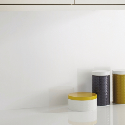 kitchen cabinets door handles trailer white glass effect backboard   worktop backboards ...