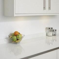 Sliding Kitchen Cabinet Doors Granite Counter Tops White Glass Effect Backboard | Worktop Backboards ...