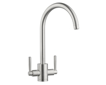 Lamona Brushed Steel Effect Swan Neck Monobloc Tap