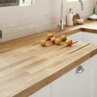 Oak Block solid wood worktop 40mm | Kitchen worktops ...