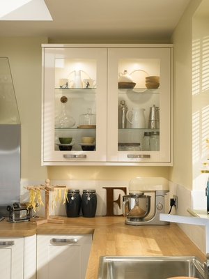 Burford Gloss Ivory Kitchen  Shaker Kitchens  Howdens