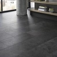 Quickstep Livyn Black Slate Vinyl Tile Flooring | Howdens ...