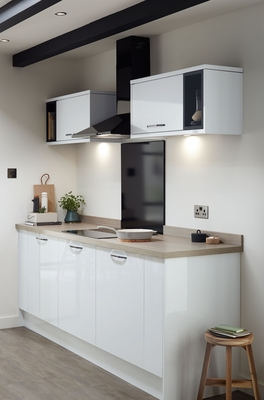 white modern kitchen cabinets sinks reviews greenwich gloss | universal kitchens ...