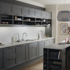 Kitchen Island With Oven Rustic Cabinets For Sale Allendale Slate Grey | Shaker Kitchens Howdens ...
