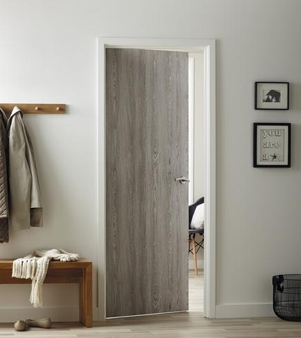 Light Grey Oak Foil Door  Howdens Joinery