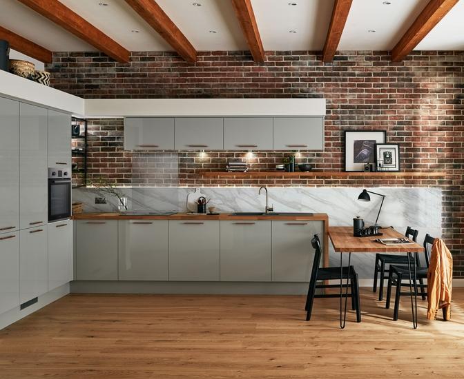 Glendevon Gloss Grey Kitchen Universal Kitchens