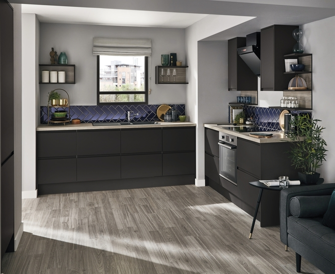 Clerkenwell Super Matt Graphite Kitchen  Howdens Joinery