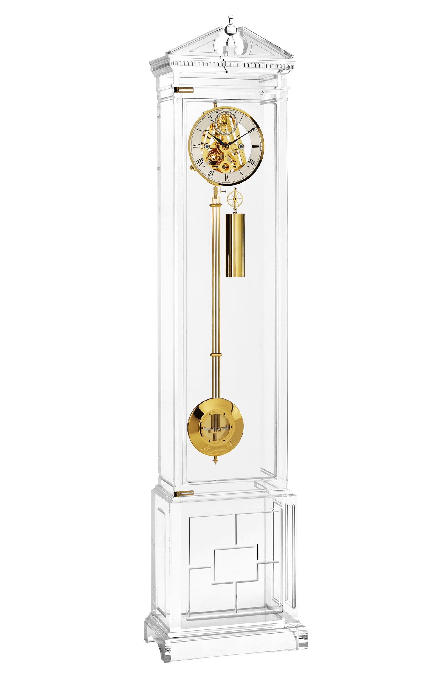 Perspex grandfather clock kicks off auction in aid of QEST