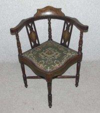 Mahogany Elegant Corner Chair - Antiques Atlas