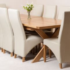 Ivory Dining Chairs Uk V Rocker Gaming Chair Vermont Extending Kitchen Solid Oak Table And 8