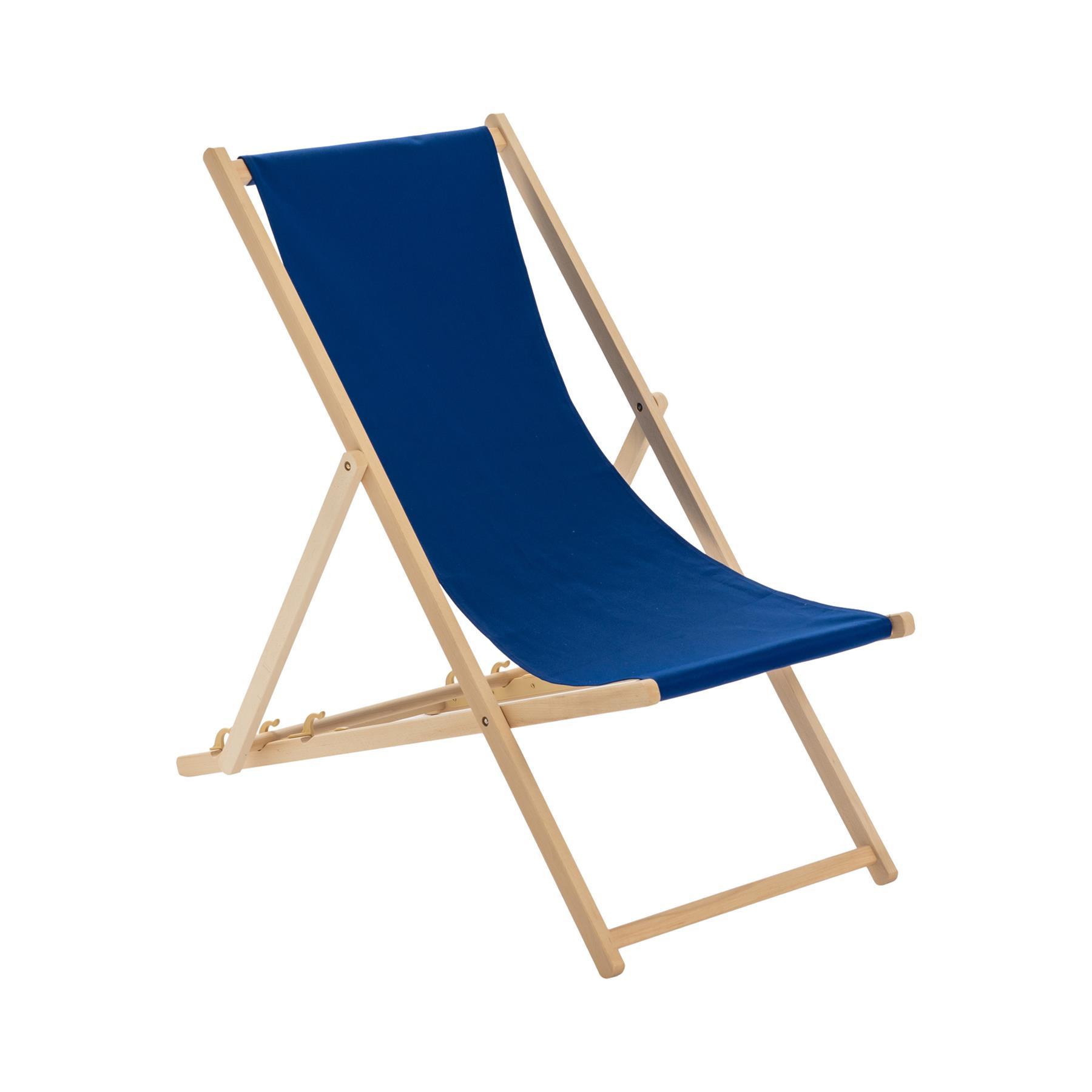details sur traditionnelle pliante chaise longue en bois jardin plage mer pont chaise bleu