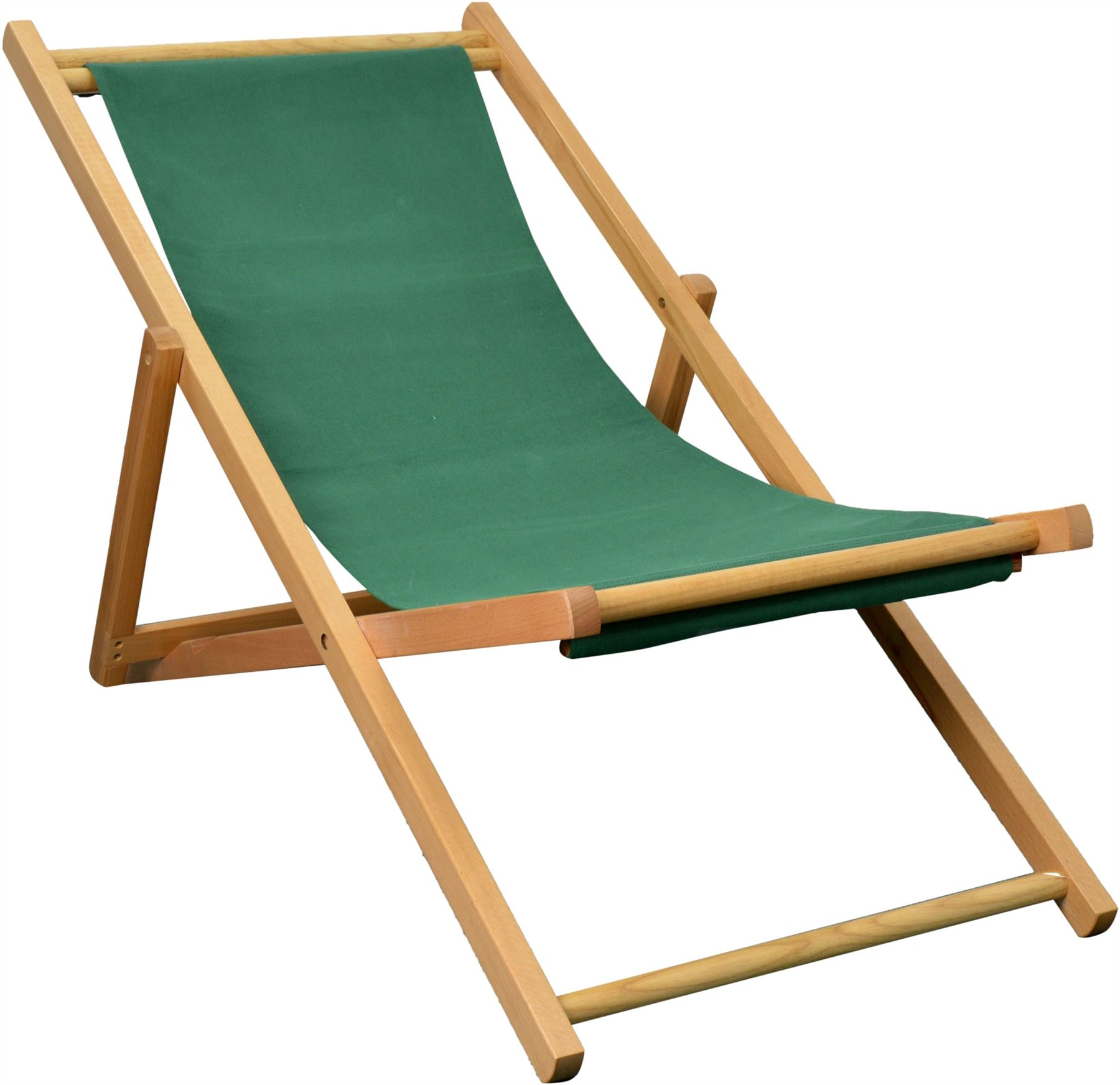 Folding Wood Beach Chair Traditional Folding Wooden Deckchair Garden Beach Seaside