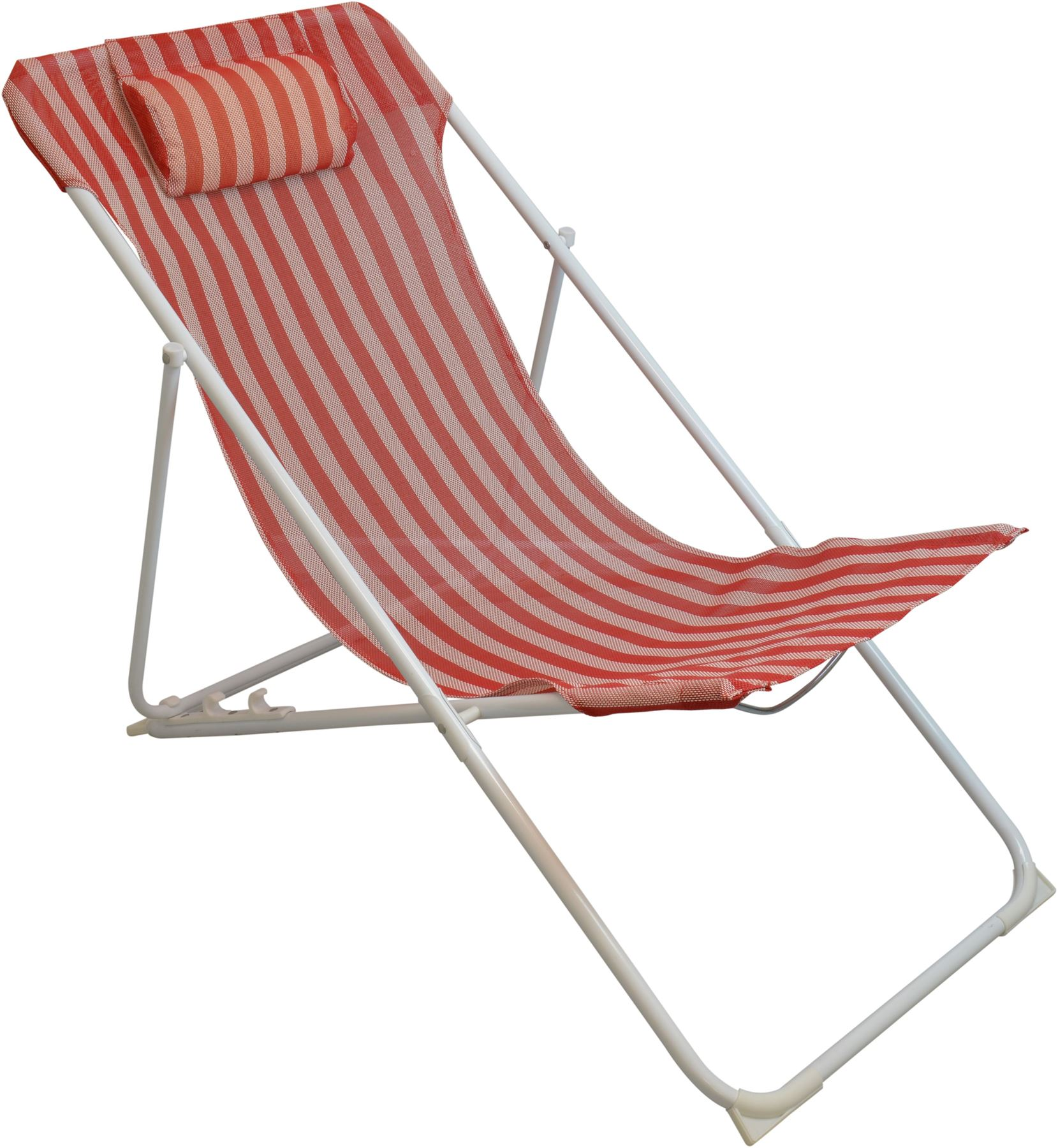 steel chair amazon tempur pedic office reviews metal deckchair garden beach seaside folding deck