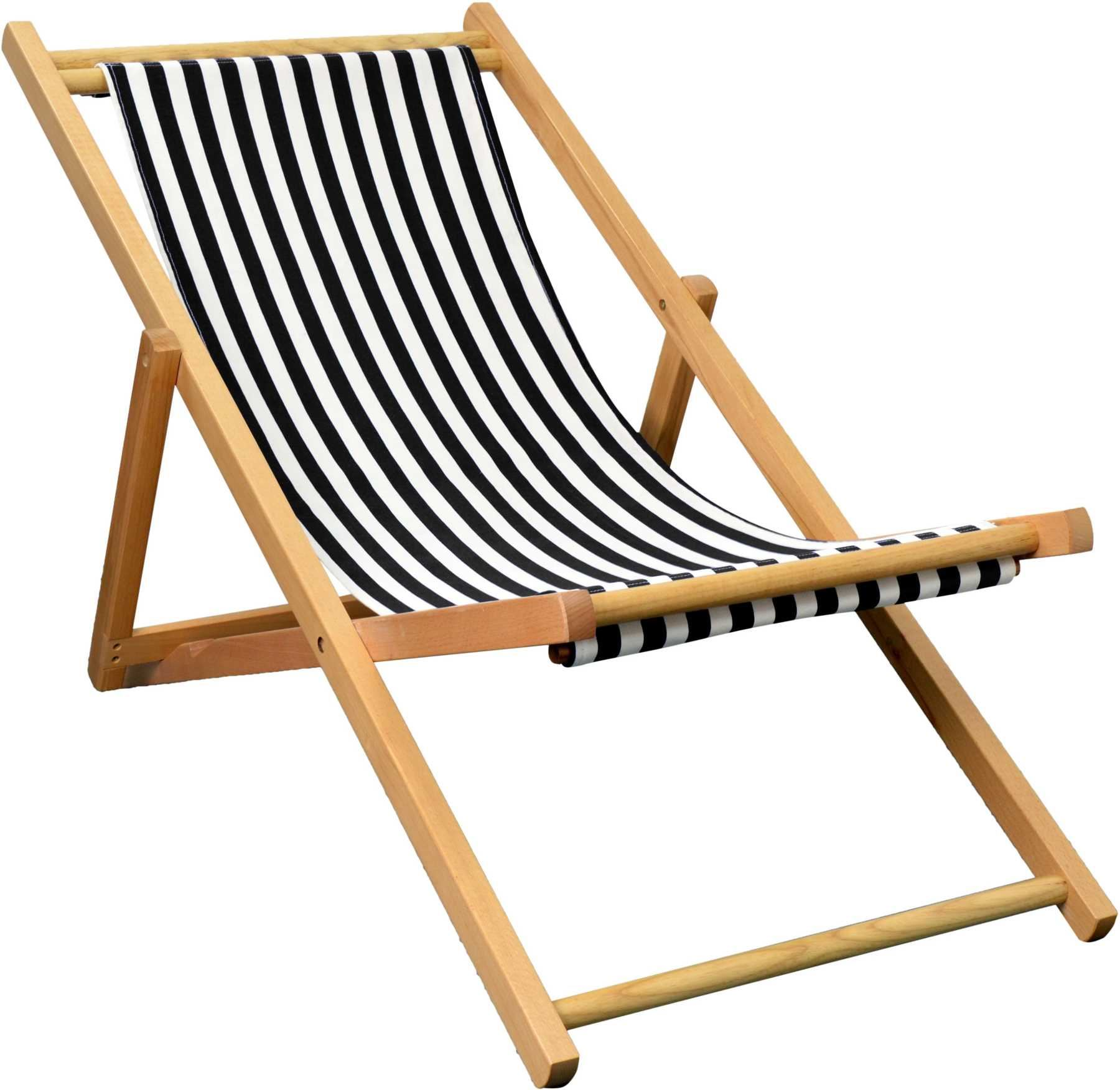 Folding Wood Beach Chair Folding Wooden Deckchair Garden Beach Seaside Deck Chair