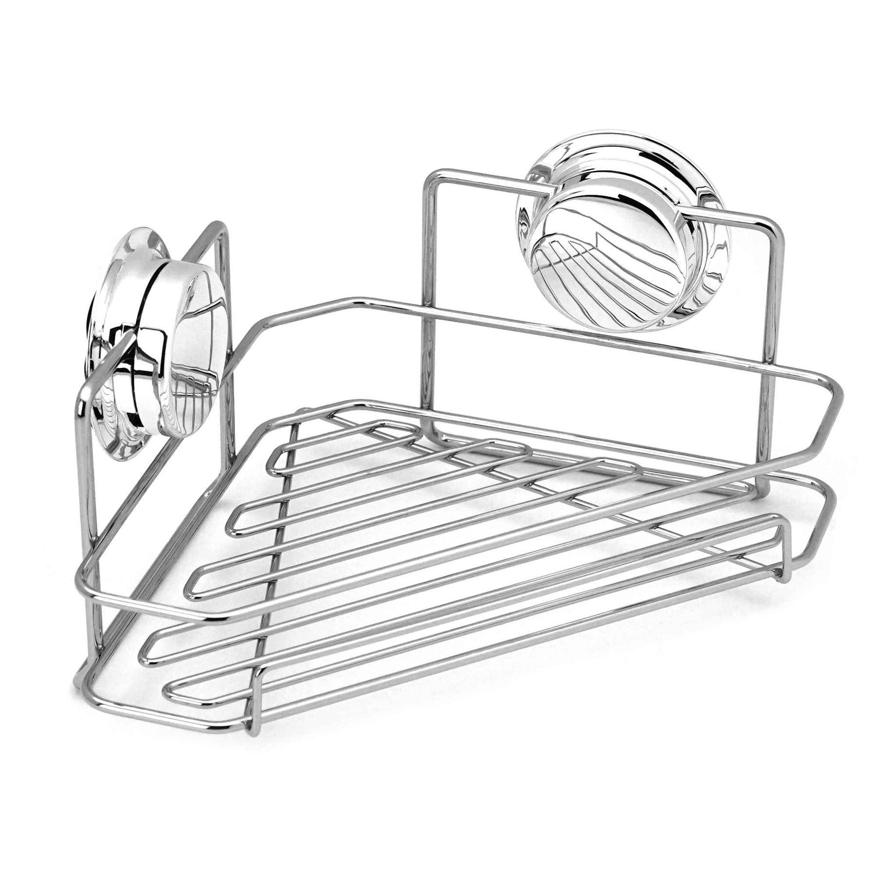 Bathroom Shower Caddy Twist Amp Lock Suction Cup Corner Bath