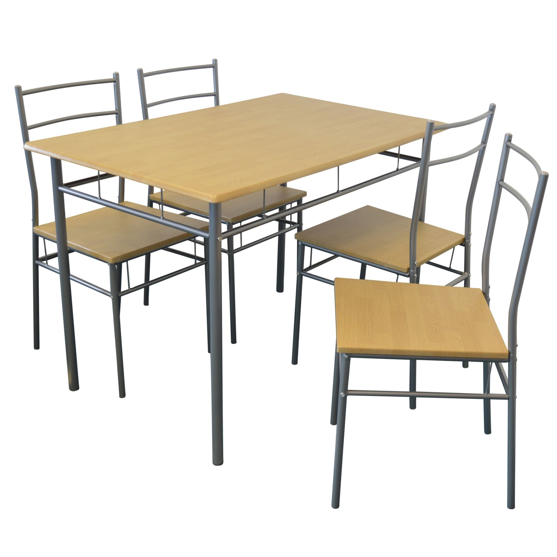 5 piece kitchen table set round wood dining room and chairs furniture